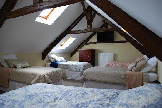 Gite Alme top floor bedroom